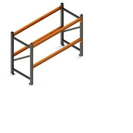 Porta Pallet Módulo Inicial 2,30x1,0x2,0 m P/1200 Kg - 2 Pares de Longarina