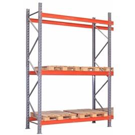 Porta Pallet Módulo Inicial 2,30x1,0x3,40m P/2400 Kg - 3 Pares de Longarina